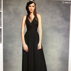 Vera Wang Dresses - Vera Wang  White halter-full length dress in black